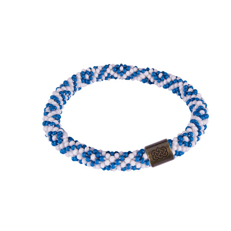 Sherpa Adventure Gear Two Colour Roll on Bracelet in Blue Tara