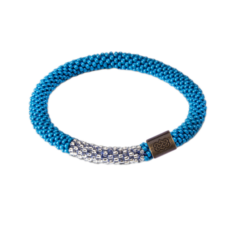 Mayalu Block Roll on Bracelet - Blue Tara