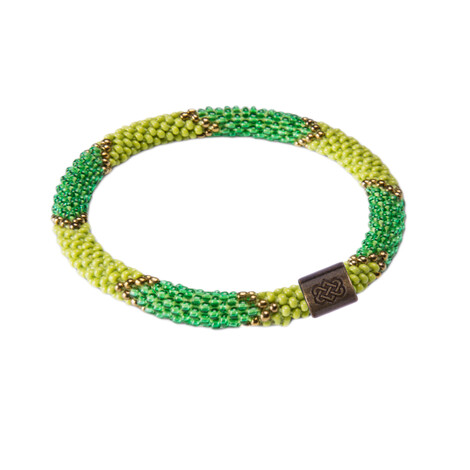 Sherpa Adventure Gear Mayalu Ikat Roll on Bracelet in Gokarna Green