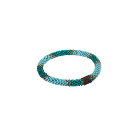Sherpa Adventure Gear Mayalu Ikat Roll on Bracelet in Rathna Green