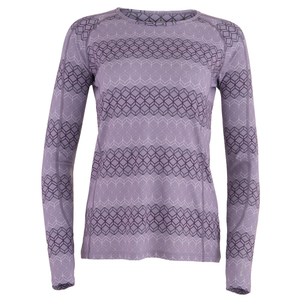 Hailey L/S Crew Purple Ash Geo