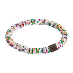 Mayalu Speckled Roll On Bracelet Katha White