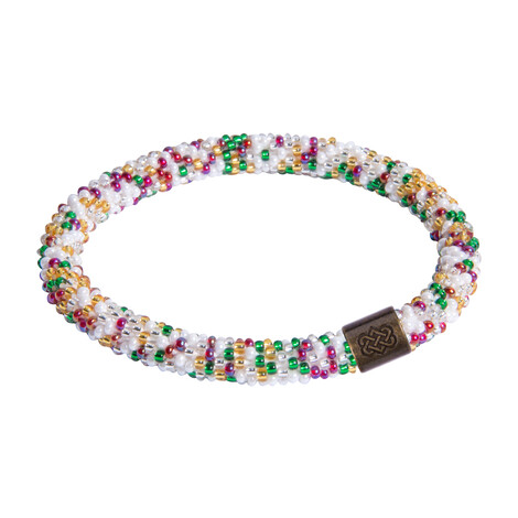 Sherpa Adventure Gear Mayalu Speckled Roll On Bracelet in Katha White