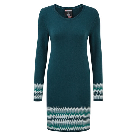 Sherpa Adventure Gear Maya Jacquard Dress in Rathna Green