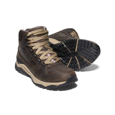 Men's KEEN X  Innate Leather Waterproof Mid Hiking Boot Root Brown