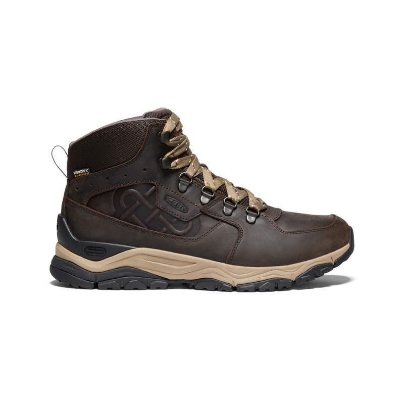 Men's KEEN X Sherpa Innate Leather Waterproof Mid Hiking Boot - Root Brown