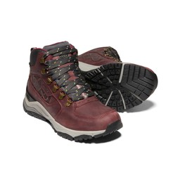 Women's KEEN X  Innate Leather Waterproof Mid Hiking Boot Burgundy/Shark