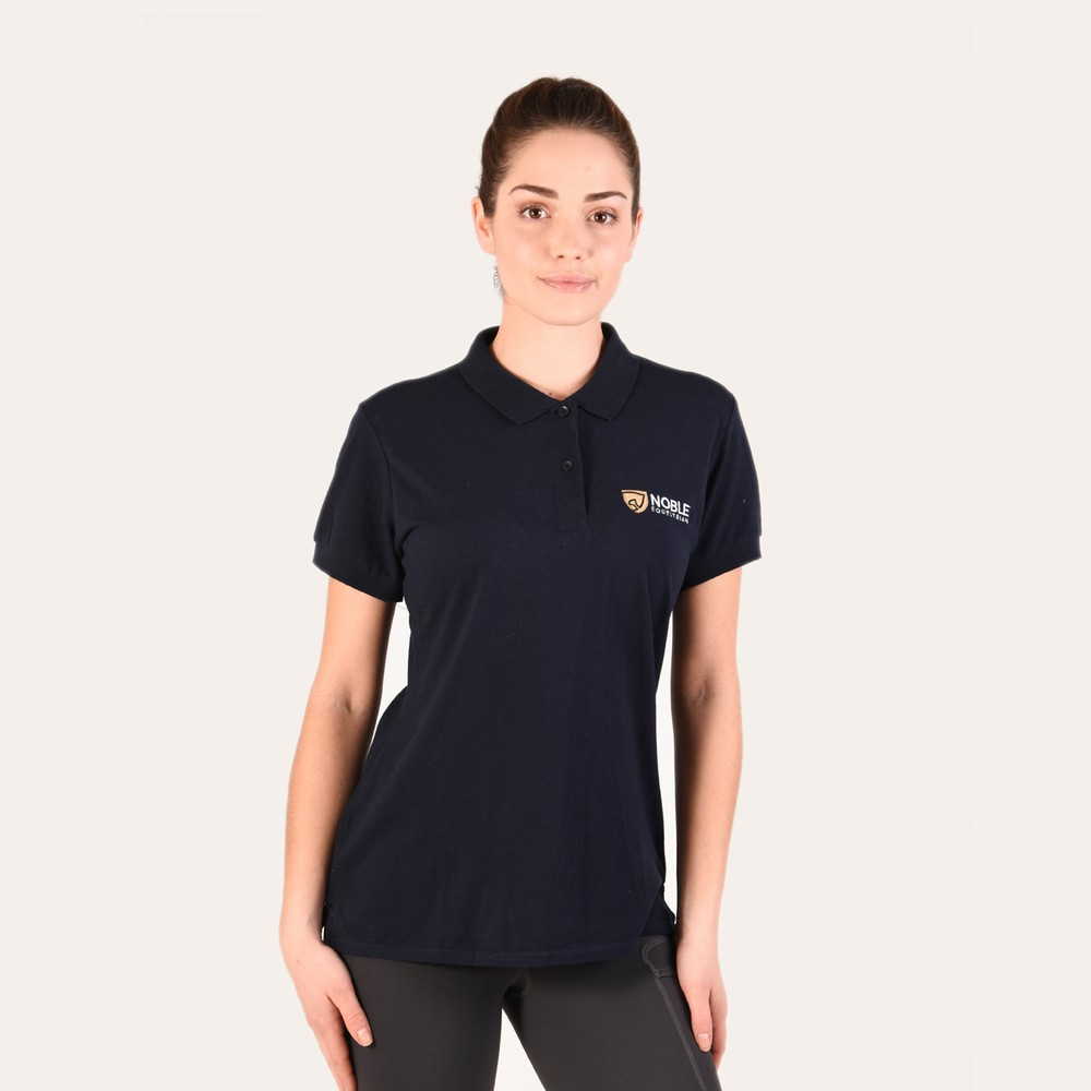 Womens Essential Polo Black