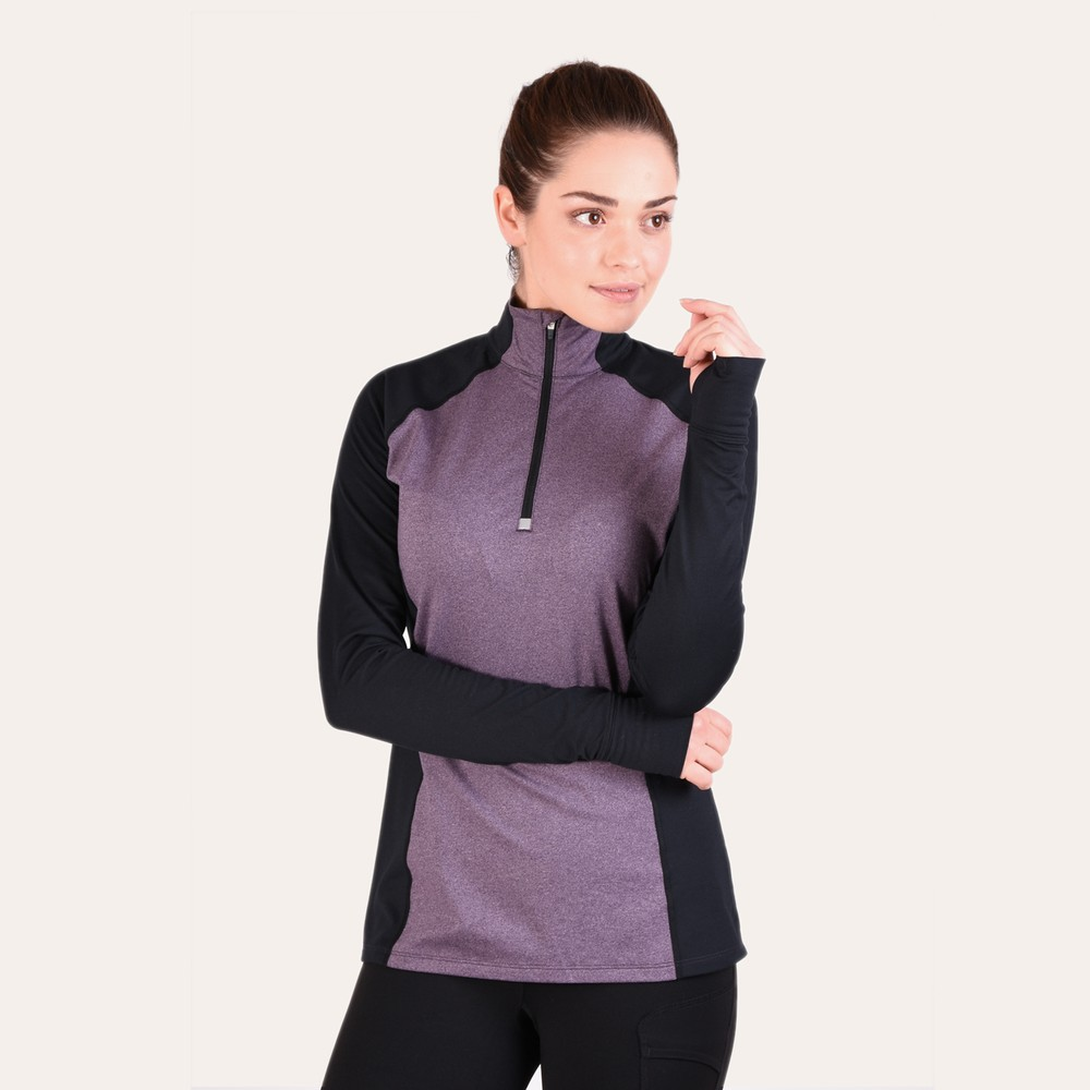 Athena 1/4 Zip Purple Ash