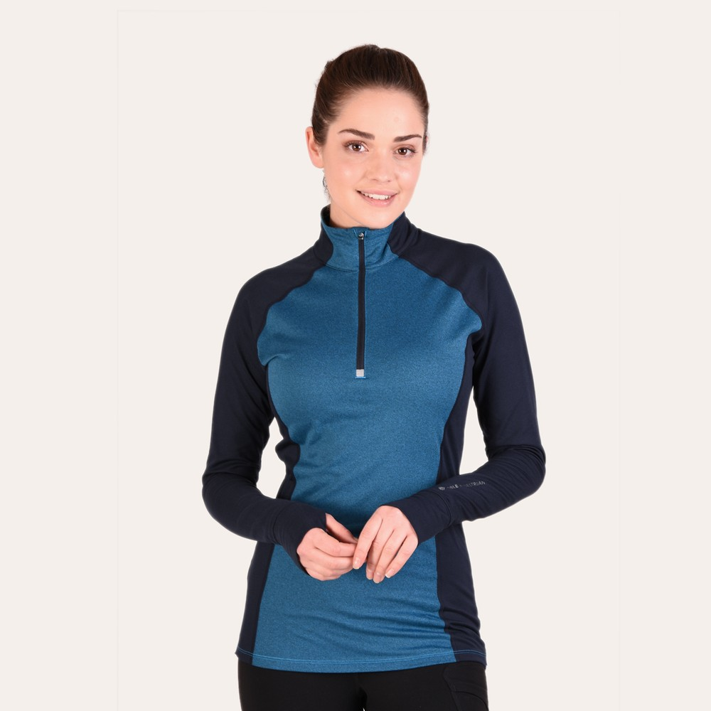 Athena 1/4 Zip Brilliant Blue/Dark Navy