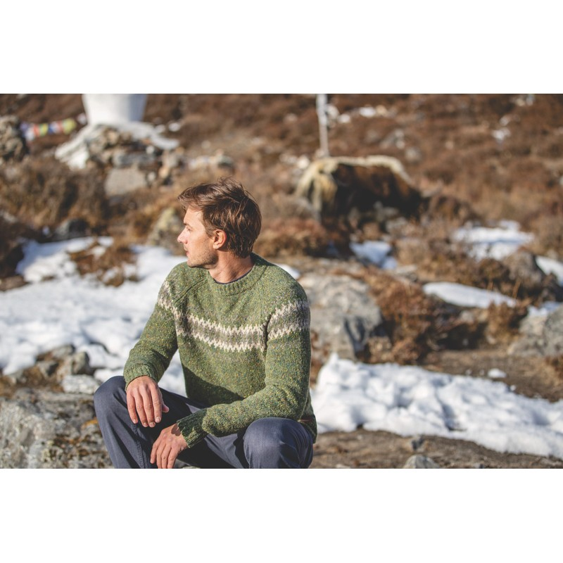 Dumji Crew Sweater - Gokarna Green