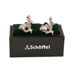 Schoffel Country Cufflinks in Pewter Hare