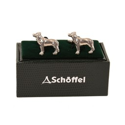 Schoffel Country Cufflinks in Pewter Labrador