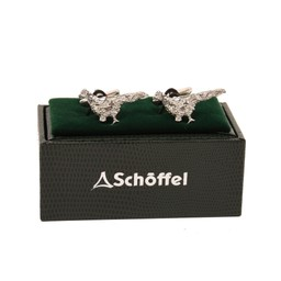 Schoffel Country Cufflinks in Pewter Pheasant