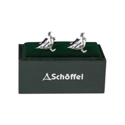 Schoffel Country Cufflinks in Pewter Ptarmigan