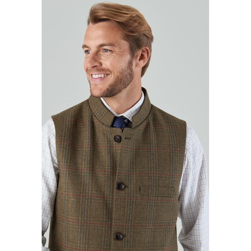 Nehru Tweed Waistcoat Buckingham Tweed