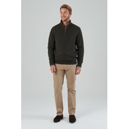 Lambswool Aerobloc 1/4 Zip Jumper