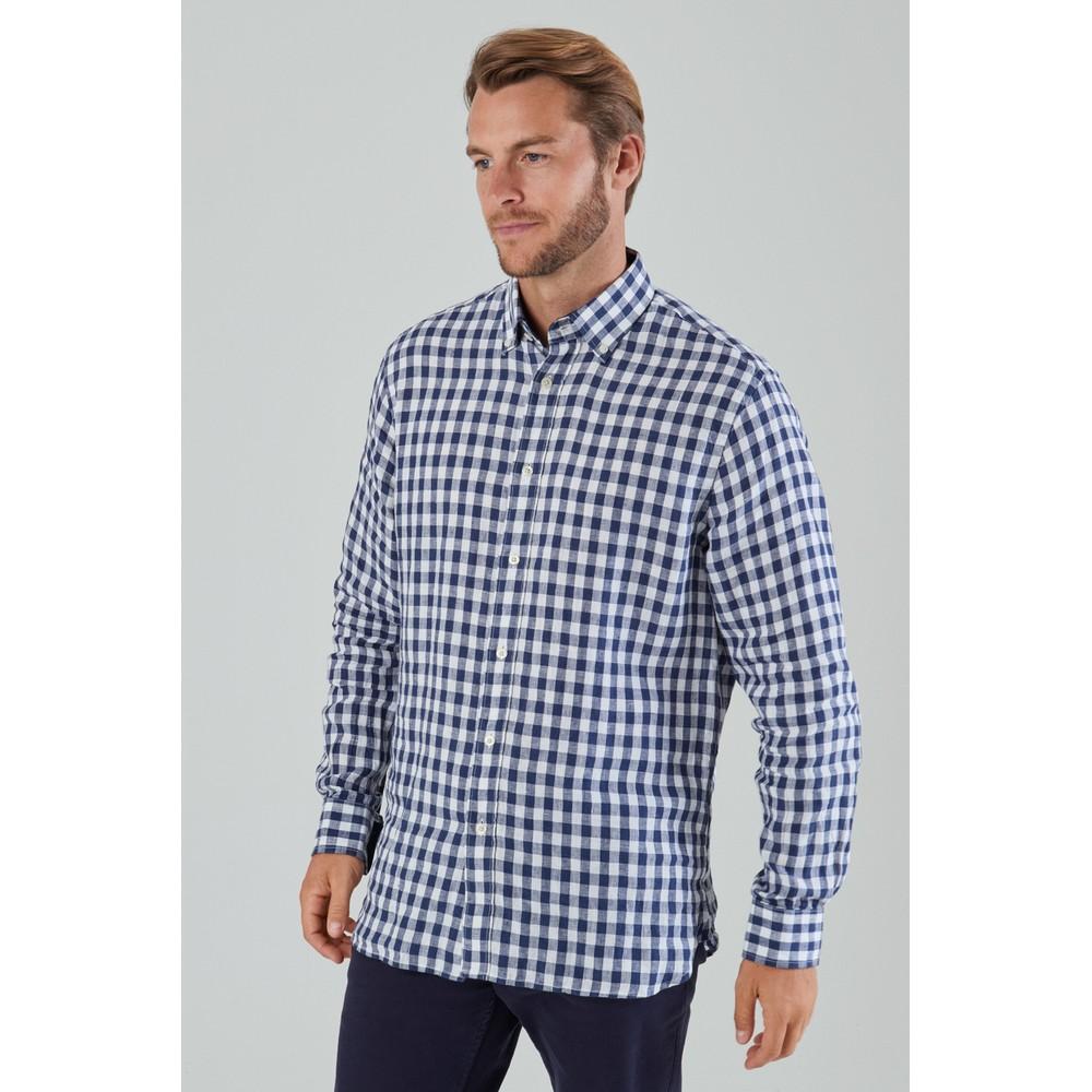 Sandbanks Tailored Shirt Navy Check