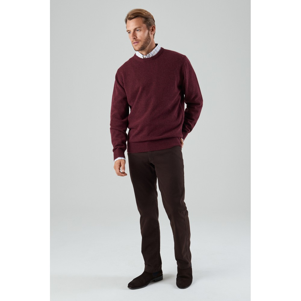 Lambswool Crew Neck Jumper Damson