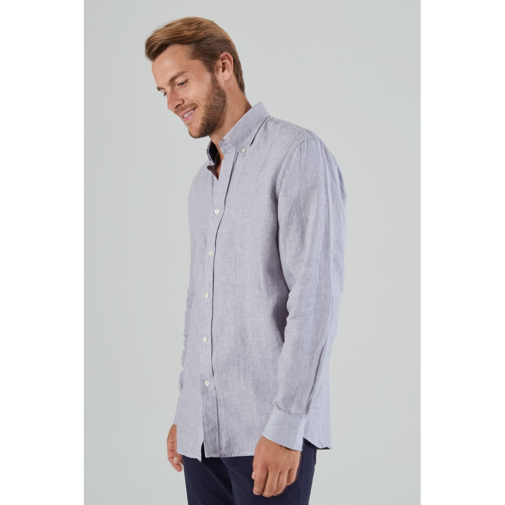 Sandbanks Linen Shirt Grey