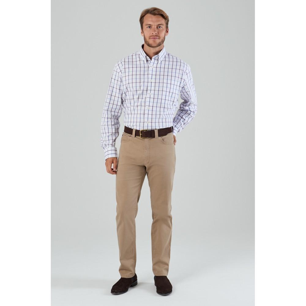 Brancaster Shirt Purple Check Wide
