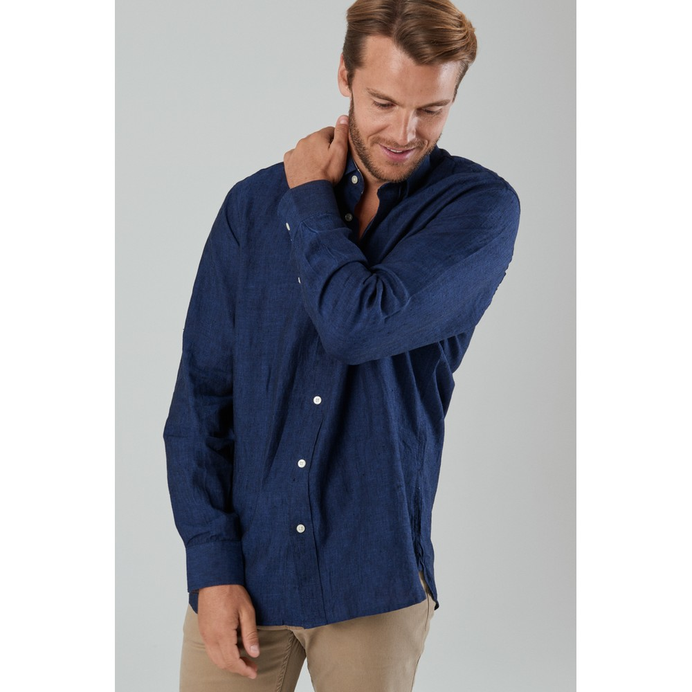 Sandbanks Tailored Shirt Navy