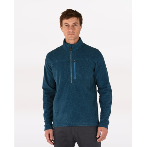 Sherpa Adventure Gear Rolpa Zip Tee in Raja Blue