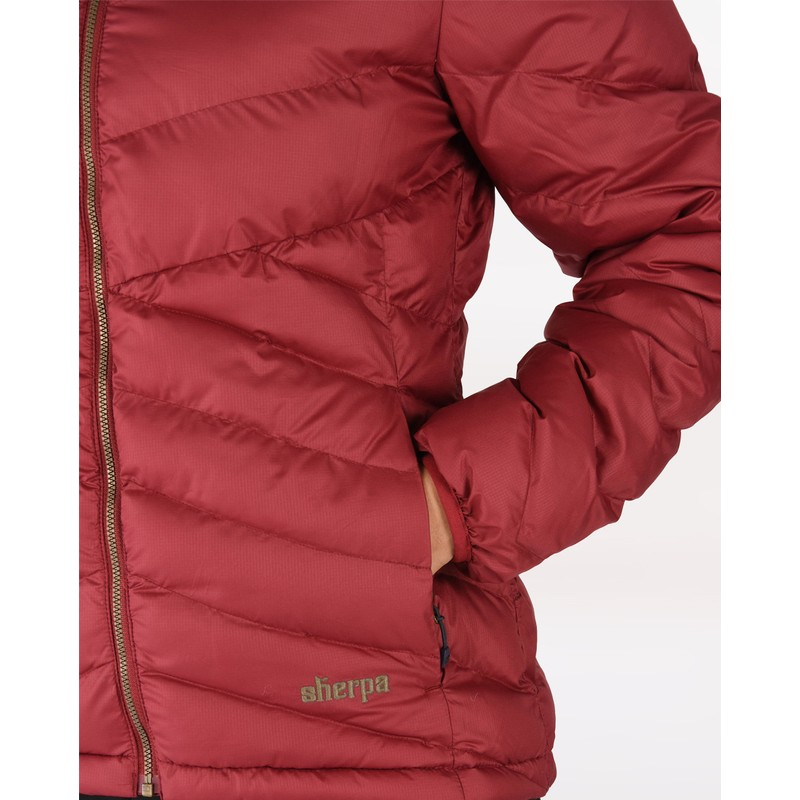 Annapurna Hooded Jacket - Shaadi Red