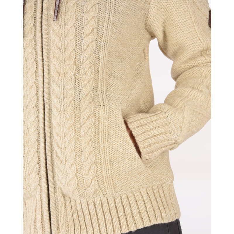Kirtipur Cable-Knit Sweater - Karnali Sand