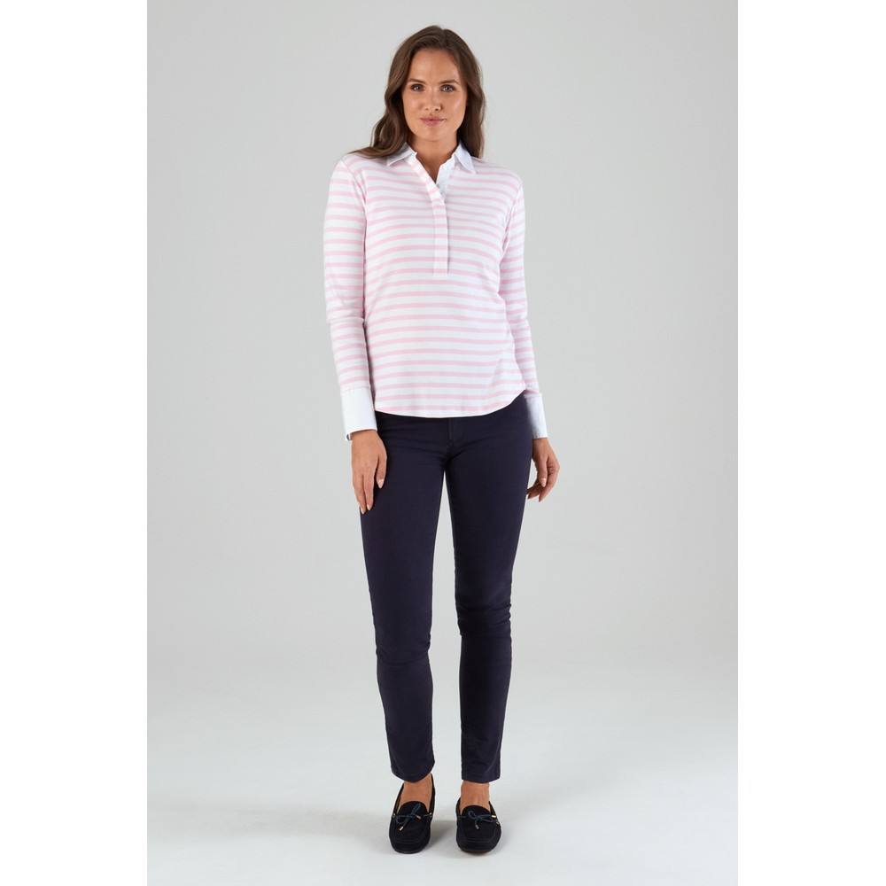 Salcombe Shirt Harbour Stripe Pink