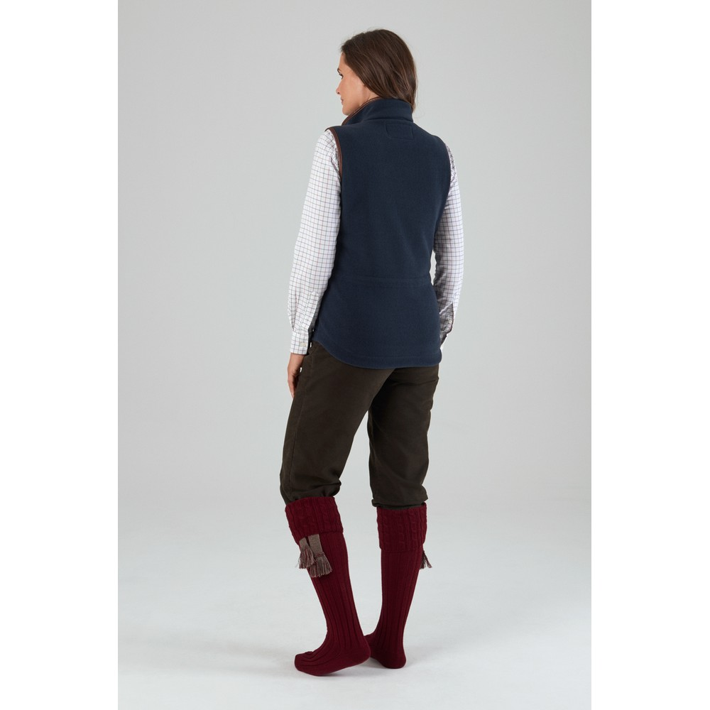 Lyndon Fleece Gilet Slate Blue