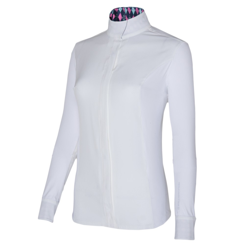 Catherine L/S Show Shirt White/French Pink