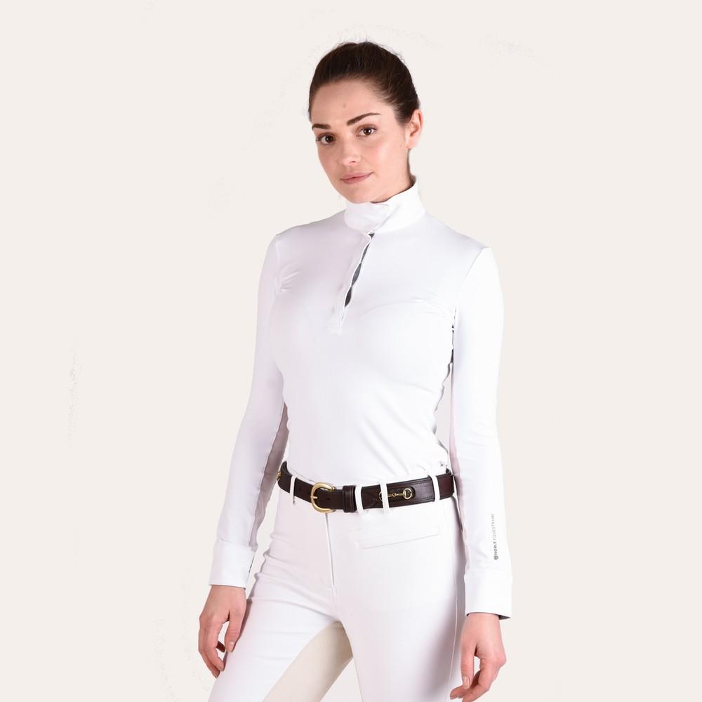 Victoria L/S Pull On Show Shirt Hawaiian Blue/Horse