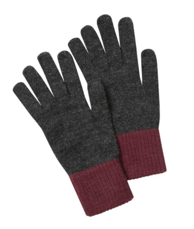 Barleythorpe Glove Charcoal/Fig