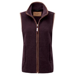 Schoffel Country Lyndon Fleece Gilet in Grape