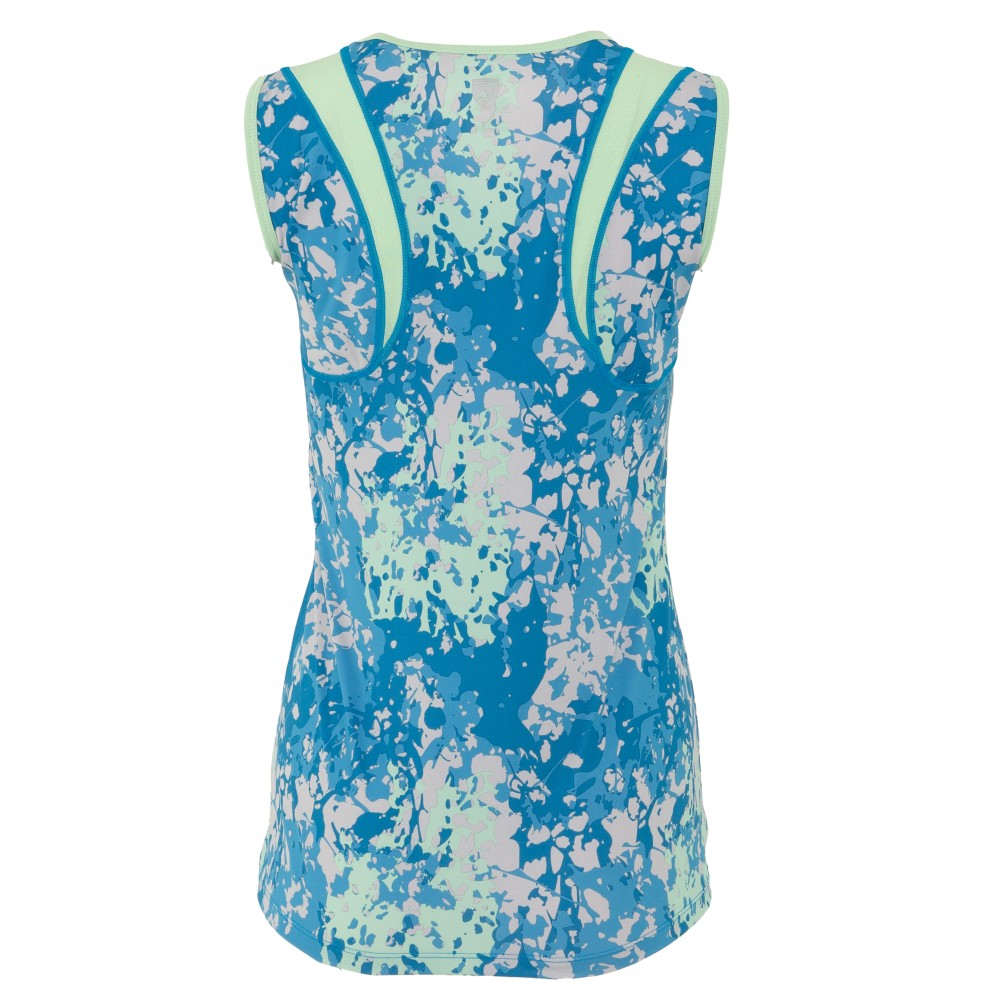 Lily Tank Imperial Blue Floral Camo/Fresh Mint