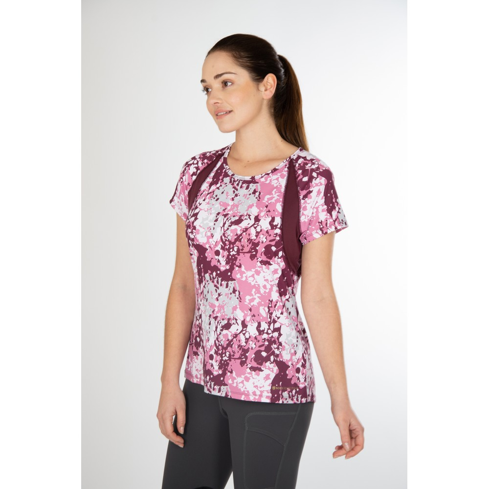 Maddie Short Sleeve Top Fig Floral Camo
