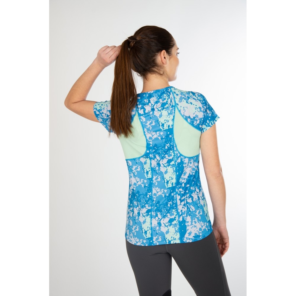 Maddie Short Sleeve Top Imperial Blue Floral Camo/Fresh Mint