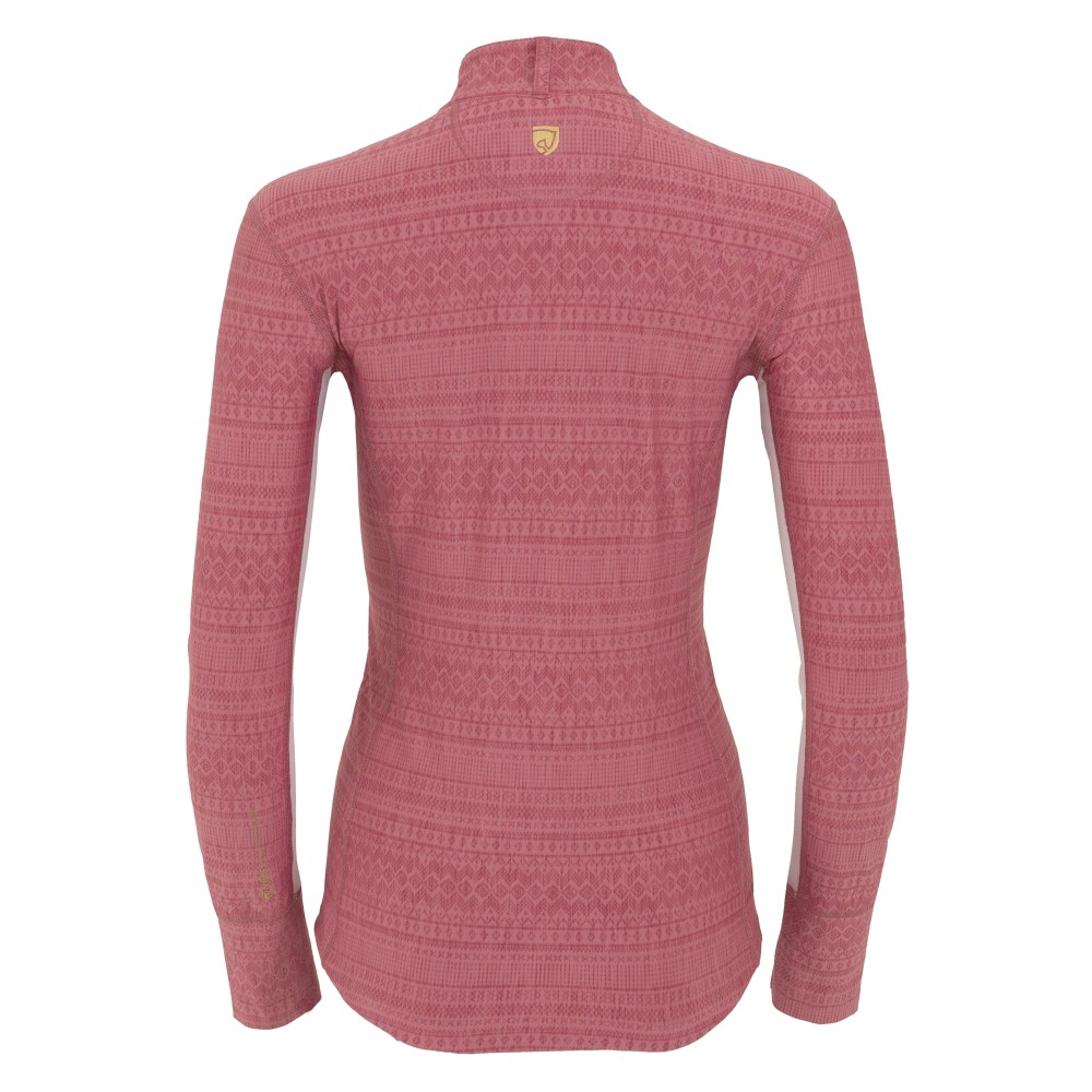 Amber L/S Performance Shirt Crush Pink/White