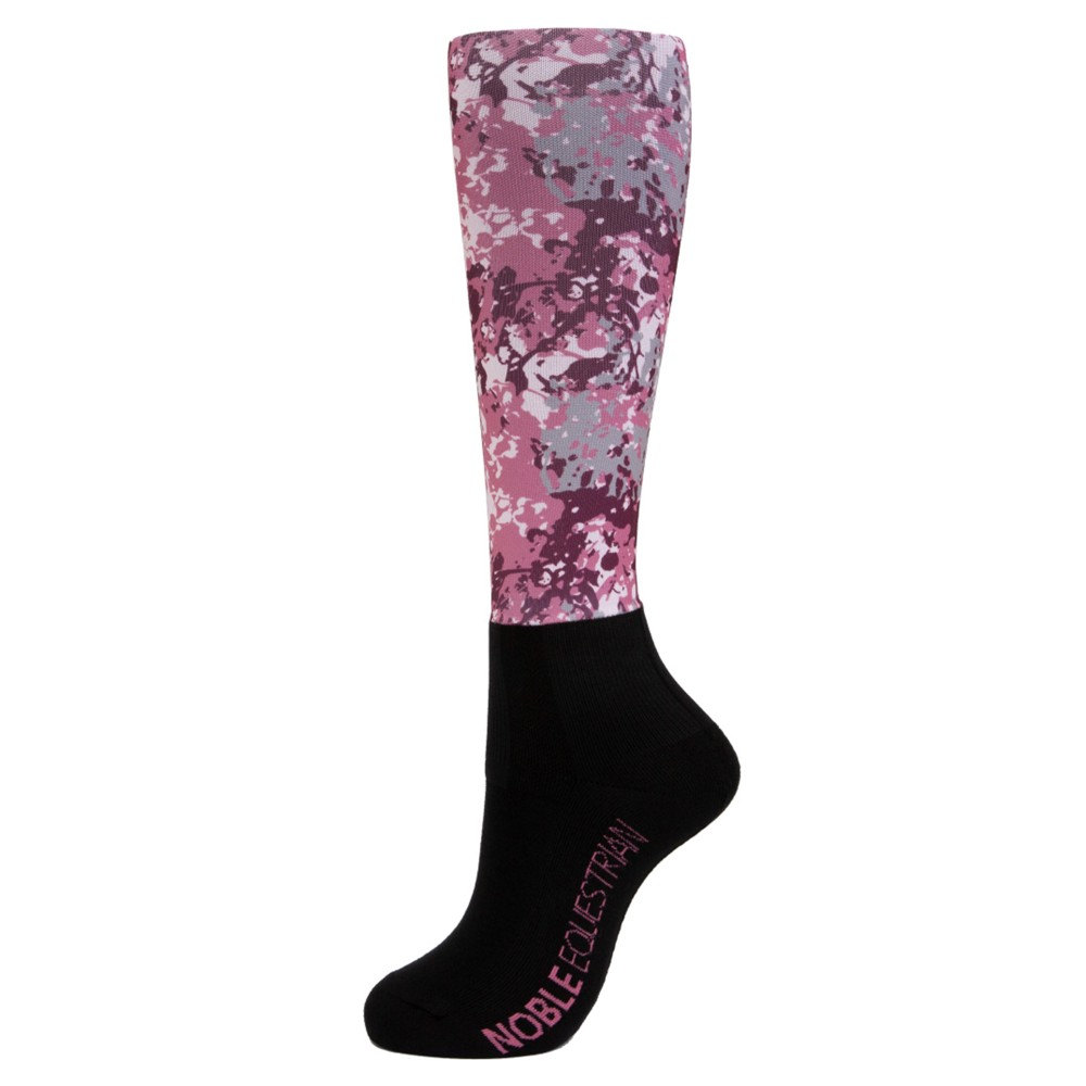 Printed Over the Calf Peddies Crush Pink Camo