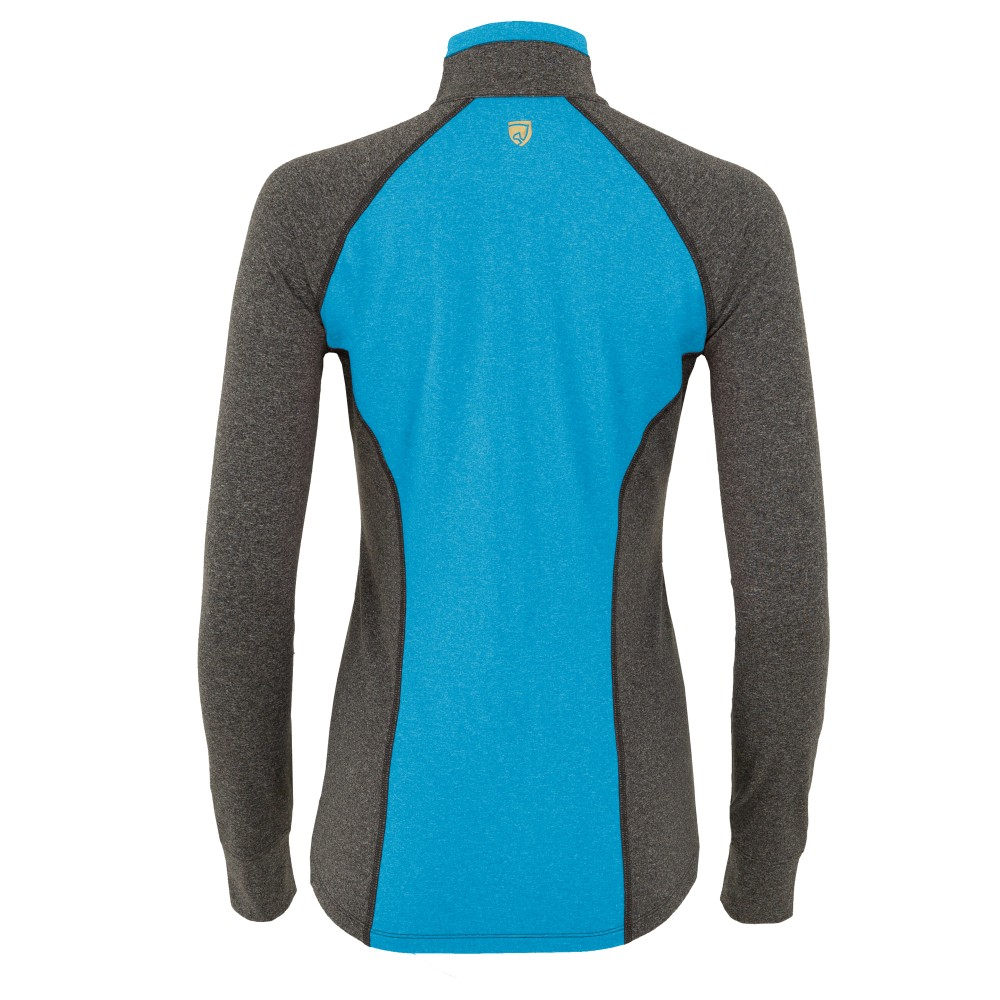 Athena 1/4 Zip Charcoal Heather/Imperial Blue