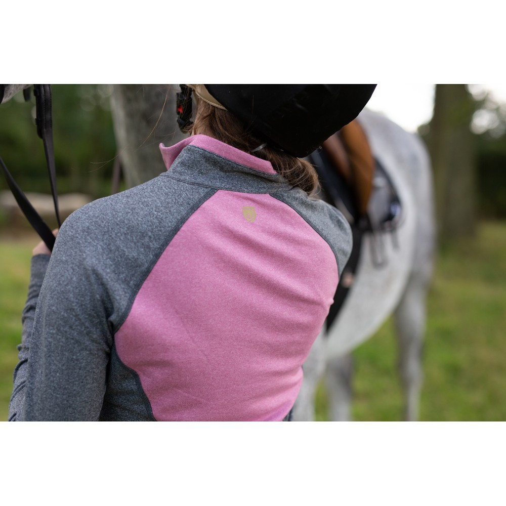 Athena 1/4 Zip Crush Pink/Charcoal