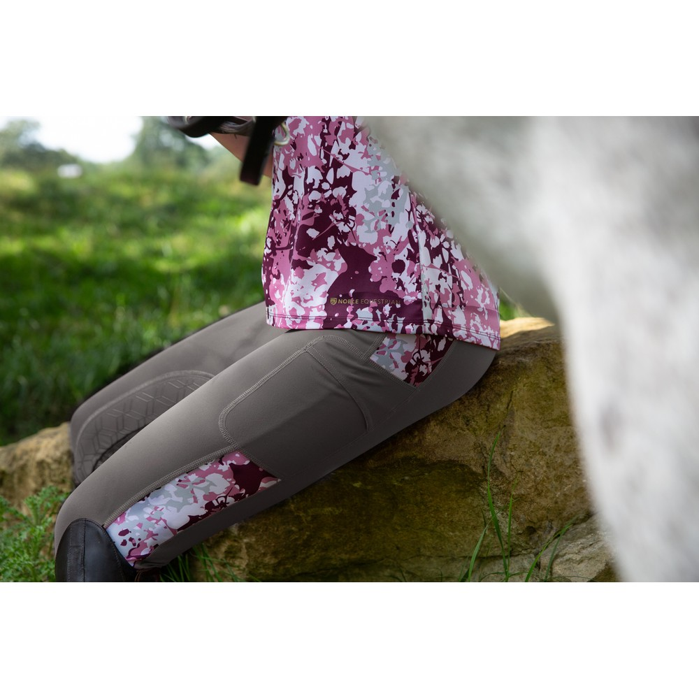 Printed Balance Riding Tight Asphalt/Fig Floral Camo