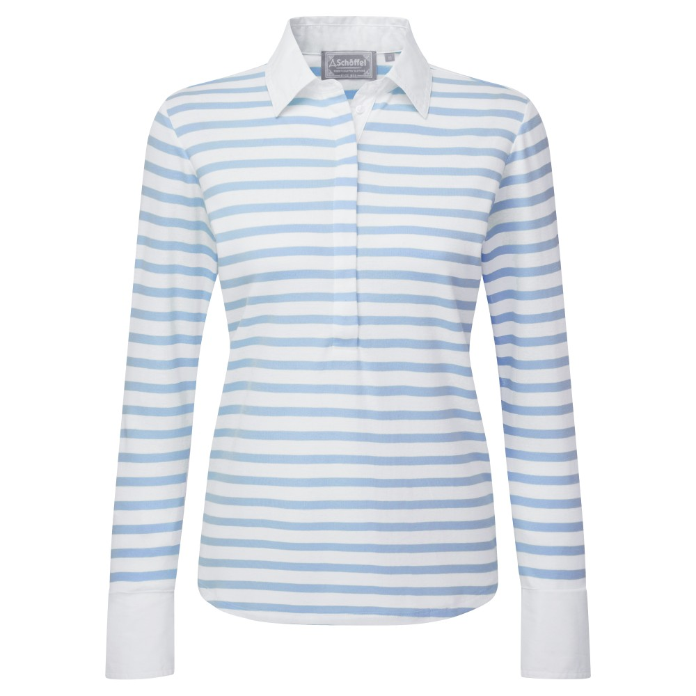 Salcombe Shirt Harbour Stripe Cornflower Blue
