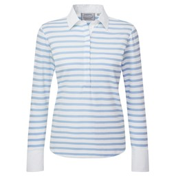 Schoffel Country Salcombe Shirt in Harbour Stripe Cornflower Blue