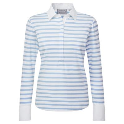 Schoffel Country Salcombe Shirt in Harbour Stripe Cornflower Blue