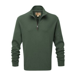 Schoffel Country Cotton French Rib 1/4 Zip in Sage