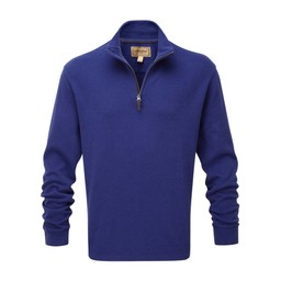 Cotton French Rib 1/4 Zip Marine