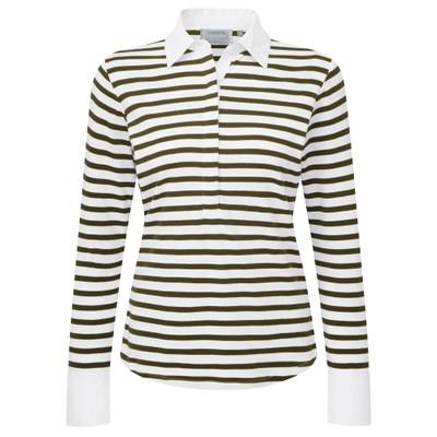 Salcombe Shirt Harbour Stripe Dk Olive