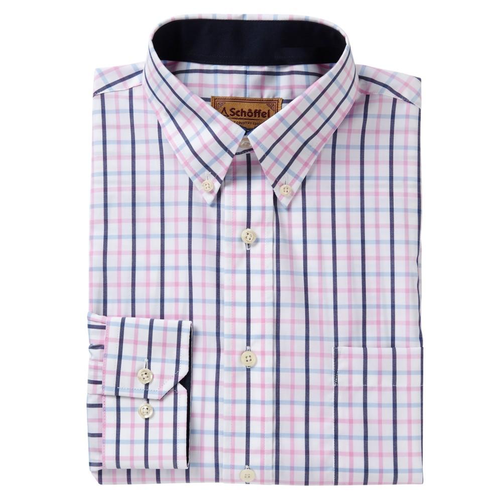 Holkham Shirt Marine/Cornflower/Pink